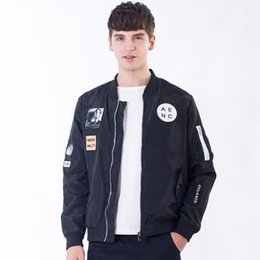 Wholesale Mens Winter Bomber Jackets - Men MA1 Bomber Jacket Spring Winter Slim Fit Streetwear Clothing for Male Fashion Coats Mens Jackets
