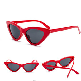 d3c63d4d00 Fashion Cute sexy retro cat eye sunglasses women small black white triangle  vintage cheap sun glasses red female uv400