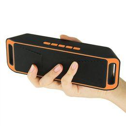 Radio pour la maison en Ligne-Nouveau haut-parleur sans fil SC208 avec 4.0 stéréo Bluetooth haut-parleurs Subwoofer carte TF Radio intégré Mic Dual Bass Sound Box