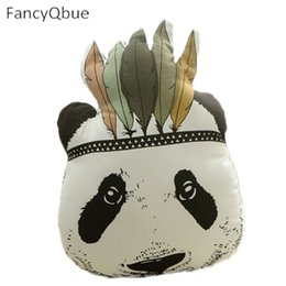 Wholesale panda cushion pillow - 2017 Cute Cartoon Pillow Decorative Indian Panda Cushion Animal Bed Decorative Pillows