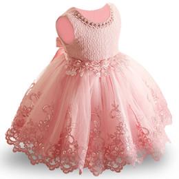 00225f11b7e20 Çiçek Toddler Bebek Kız Bebek Prenses Elbise Bebek Kız Düğün Elbise dantel  tutu Çocuklar Parti için Vestidos 1st doğum günü Y18102007
