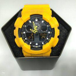 Wholesale Watch Mens G Shock - 2018-Popular Mens Summer G Sports GA110 Watches LED Waterproof Climbing Digital S Shock Men 100 Watch All Pointer Work Original Box