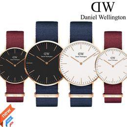 Wholesale womens quartz watches - reloj mujer 2018 Daniel watch womens red Nylon belt Student sports watch for men fashion quartz watches male clock Relogio reloj hombre
