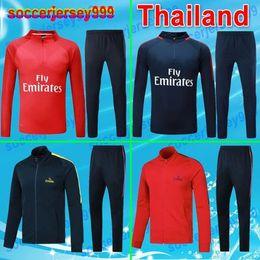 Wholesale Boys Blue Suits - +++ AAA 17 18 jacket Adult Training suit kit tracksuit soccer Jersey sets neymar jr mbappe cavani verratti 2017 2018 football uniform
