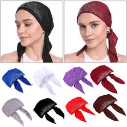 2019 mütze für muslimische frauen Arbeiten Sie moslemische Frauen-Dame Inner Hijab Cap Islamic Underscarf Headwear Hut-Geschenk F05 um rabatt mütze für muslimische frauen