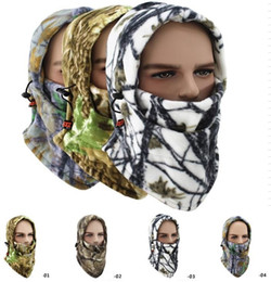 multifunción fleece caps máscaras de camo cap invierno caliente máscara de la cara ciclismo tapas a prueba de viento esquí bandana máscara de la motocicleta esquí snowboard capuchas desde fabricantes