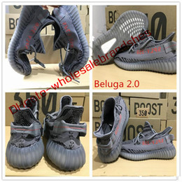 Wholesale green charcoal - So popular Kanye west Sply 350 Bred Black Charcoal Grey 350 BOOST v2 Boost 350 bred Beluga Running Shoes size eur 36-48