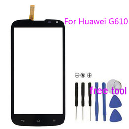 Wholesale Smartphone Replacement Glass Screens - Smartphone Touch Screen Glass Digitizer For Huawei G610 C8815 Sensor Touchscreen Front Glass Sensor Replacement + Free tool