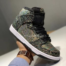 new products 1930f 96cec Discount sb dunks - SB Dunk Hi PREM Reigning Champ Stained Glass Mens Women  Basketball Shoes