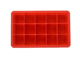 square silicone ice cube tray Coupons - Silicone Square Ice Cube Tray Maker Mold Mould Making Candy Chocolate Baking Cake Fruit Pudding for Cocktail Cola Bar Pub Party 15 Units hot