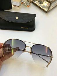 Wholesale Linda Farrow - Luxury Linda Farrow LFL729 Aviator Sunglasses Brand sunglasses Glasses Womens New with Box