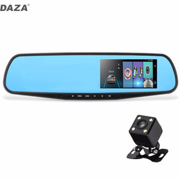 Wholesale Dual Loop - Newest DAZA G-826 4.3 Inch Car DVR With Rear View Camera Dual Lens With Night Vision G-Sensor Loop Recording Motion Detection