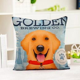 Wholesale dog cases covers - Lovely dog pillow cases Digital printing line couch pillowcase Home office square cushion cover Dog lover gift