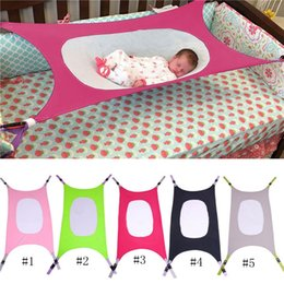 Wholesale sleep crib - 5colors Baby Sleeping Hammock Detachable Portability Children Beds Cotton Material Cot Beds Originality Cribs With Multicolor MMA390