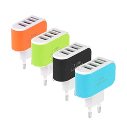 Wholesale tablets for cheap wholesale - 3 USB Ports EU US Plug Wall Charger Cheap Universal Portable Travel Charging Adapter for Cellphone Tablet PAD