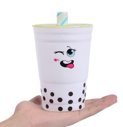 Wholesale wholesale k cup - Cartoon Drink Cup Squishy Decompression Toys Cute Simulation Milk Mug Squishies Slow Rebound Squeeze Toy Kid Gift 19mz C