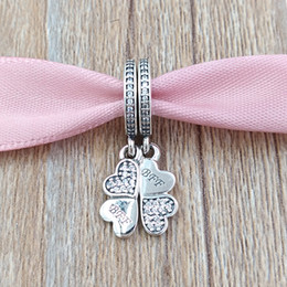 Wholesale friends forever bracelets - 925 Sterling Silver Beads Silver Best Friends Forever Bff Dangle Charm Fits European Pandora Style Jewelry Bracelets & Necklace 791949CZ