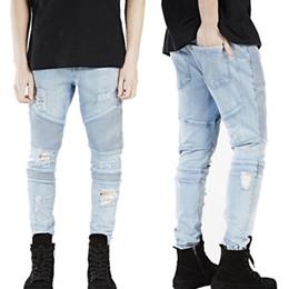più jeans designer di dimensioni Sconti New Designer Uomo Jeans Skinny Con Slim Jeans Elastici Moda Bike Luxury Jeans Uomo Pantaloni Strappati Foro Jean Per Uomo Plus Size 28 38, Genere