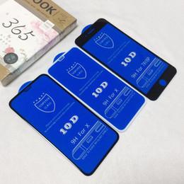 Filme completo móvel on-line-Protetores de tela de telefone celular frente curvo cobertura total filme de vidro temperado filme telefone celular protetores de tela