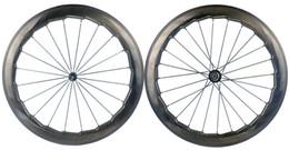 carbon clincher rad straße Rabatt NSW 454 700C 58mm tiefe rennrad 25mm breite drahtreifen dimple oberfläche carbon räder mit Novatec271 / 372 wellig krähenfüße wheelset