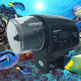 temporizador de pescado Rebajas Temporizador de alimentación automático digital del alimentador de la comida de pescados del acuario LCD para el tanque de pescados