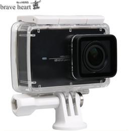 valiente bolsa de la caja del corazón impermeable + Monopod extensible selfie stick para xiaomi yi 4K 2 II Xiaoyi accesorios de la cámara de acción desde fabricantes
