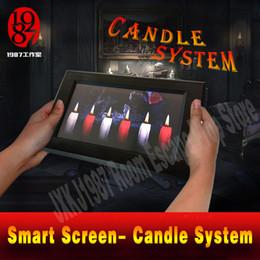 Реальная комната побег реквизит смарт-экран свеча опора для Хэллоуина игры решить головоломку, чтобы разблокировать от JXKJ1987 приключенческая игра от