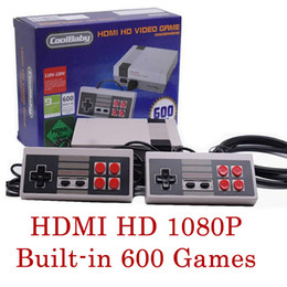 Wholesale Computers Tv - NEW HDMI HD Out Put Mini FC Video Game Console HD Edition Family Computer Built-in 600 Different Classic Games for Mini TV NES 3008036