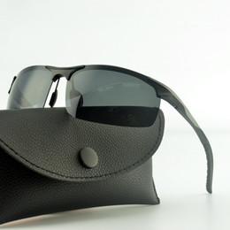 Rechteckige rahmenlose sonnenbrille online-Outdoor Frameless Rechteck polarisierte Sonnenbrille Männer Lentes de Sol Hombre HD Klare Mens Fashion Shades Sonnenbrille für das Fahren