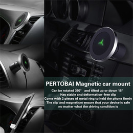 Wholesale Magnetic Pads - Magnetic Wireless Charger Fast Charging W5 for Apple iPhone Samsung Galaxy Qi Pad Quick Holder 360 Degree Stand Phone Car Chargers DHL ship