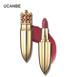 light lipsticks Promo Codes - UCANBE Brand Luxury Gold Crown Lipstick Makeup Velvet Matte 5 Color Nude Long Lasting Pigment Lips Stick Nude Cosmetic Lip Rouge