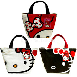 0b1db2a3e0cf New Fashion Hello Kitty My Melody Girls Woman Canvas Aluminum foil Theraml  Lunch Cooler Bags Kids Handbags For Children