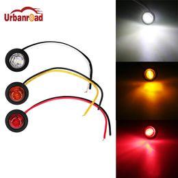 "Wholesale led truck marker lights amber - 50 Pcs Pair Truck Signal Light 12V 3 4"" Round Side 3 LED Marker Trailer Bullet Car Light Waterproof Side Marker Lights"