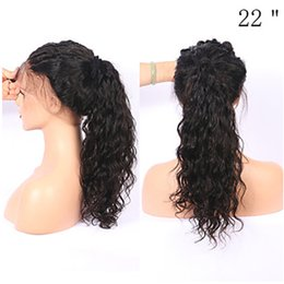 Wholesale Wavy Wigs For Black Women - Hot Popular Natural Soft Black Curly Wavy Long Cheap Wigs with Baby Hair Heat Resistant Glueless Synthetic Lace Front Wigs for Black Women