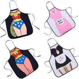 Wholesale kitchen girls - Originality 3D Maid Apron Soft Water Proof Cloth Kitchen Accessories Fun Girl Aprons Bright In Color Moderate Thickness 8yqa WW