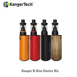 Kanger k tank en Ligne-Vente chaude Kanger K-Kiss Starter Kit Batterie intégrée 6500mah avec 4.5 ml K-Kiss Tank Vaporizer Kit