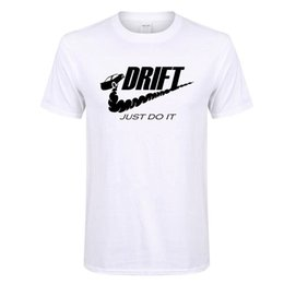 Wholesale Funny Drives - DRIFT X MIKE T Shirt Just Do It Car JDM Gym Casual Tee Drive Skid Funny Cheap Sale 100 % Cotton T Shirts for Boys