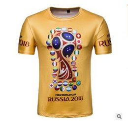 Wholesale france souvenirs - 2018-Passion summer World Cup fans souvenir edition t-shirts Russia, France, Sweden, Australia, Brazil, etc t-shirts