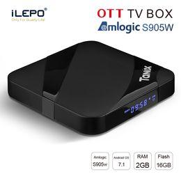 Lecteur multimédia 3d en Ligne-Nouveau android tv box 2 Go 16 Go ixv Tanix TX3 MAX Amlogic S905W boîte 2.4G WiFi BT4.1 1080p lecteur multimédia 3D