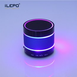 Wholesale Best Stands - Portable Bluetooth Speakers Best Selling Wireless Speaker MP3 Player Colorful LED AUX USB Port TF Card Smart Bluetooth Speakers 2018 DHL