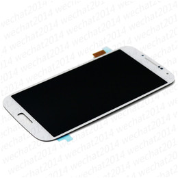 2019 pantallas de visualización s3 50 UNIDS Pantalla LCD Pantalla Táctil Digitalizador Ensamblaje de Piezas de Repuesto para Samsung Galaxy S3 i9300 S4 i9500 S5 i9600 G900 con Marco pantallas de visualización s3 baratos