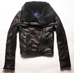 фабрика по производству куртки Скидка Factory 2016 Women Jackets Real Sheepskin Genuine Leather With Natural Rabbit Fur Liner Fashion  Slim Warm Winter Coats