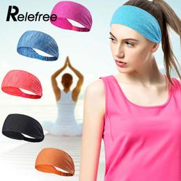 função de futebol Desconto Yoga Headband Elastic Tênis de Fitness Execução de Fibra De Poliéster de Alta Qualidade Sweatband Respirável Multi-Função de Futebol