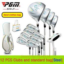 Wholesale Clothes Rod - Send Clothes Bag! Lady Golf Complete 12PCS Club and Standard Bag PGM Genuine Lady Junior Scholars Exercise Rod Complete Clubs