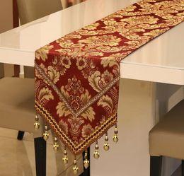 Corridore di panno di lusso online-Luxury Table Runner Tables Panno Matrimonio Utensili da cucina Natale Xmas Home Decor Rifornimenti del partito per la casa Decorazione della tavola di Capodanno