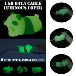 Световой кабель укус животных кабель протектор данных USB кабель заставка свечение в ночь зарядки наушники кабели Смак для iphone x 8 9 samsung s9 cheap data cable protector от Поставщики защитный кабель для передачи данных