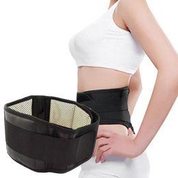 tela magnética Rebajas Magnetic Self-Heating Lower Back Lumbar Cintura Pad Belt Support Protector tela de auto calentamiento e imán banda elástica y cuero