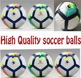 Wholesale Quality Soccer Balls - High Quality 2017 2018 Spain liga Size 5 soccer Balls ,Premier League Harry Mohamed Kane Salah Soccer equipment footabll Ballon de balls