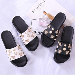 Wholesale Muffin Sandals - 2018 new thick-bottomed muffin sandals and slippers female summer wear fashion wild trend increase beach word drag female summer