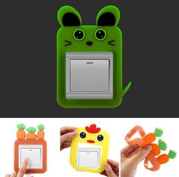 Wholesale nursery stickers ship - Cartoon Luminous Switch Sticker Bedroom Adornment Wall Stick Switch Cases Switch Stickers Home Decoration Creative Wall Stickers Free Ship